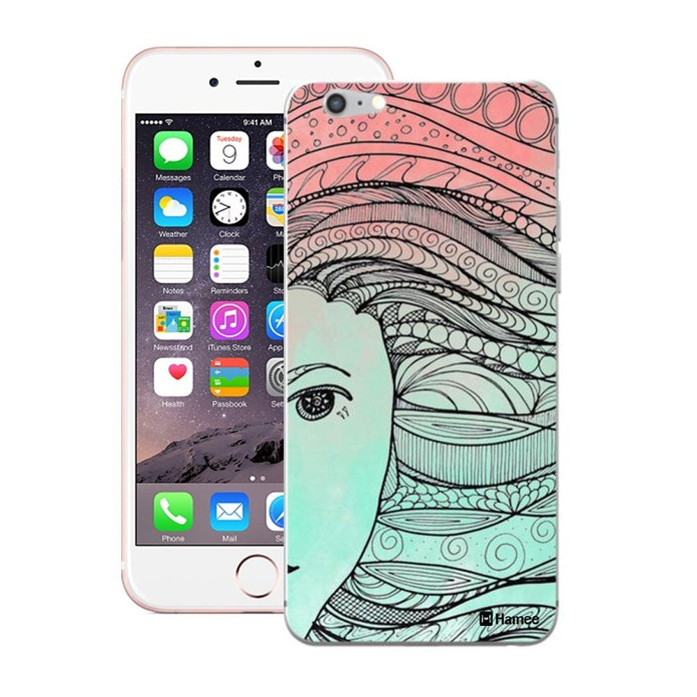 Hamee Ethnic Hair Blue X Pink Designer Cover For iPhone 5 / 5S / Se - Hamee India