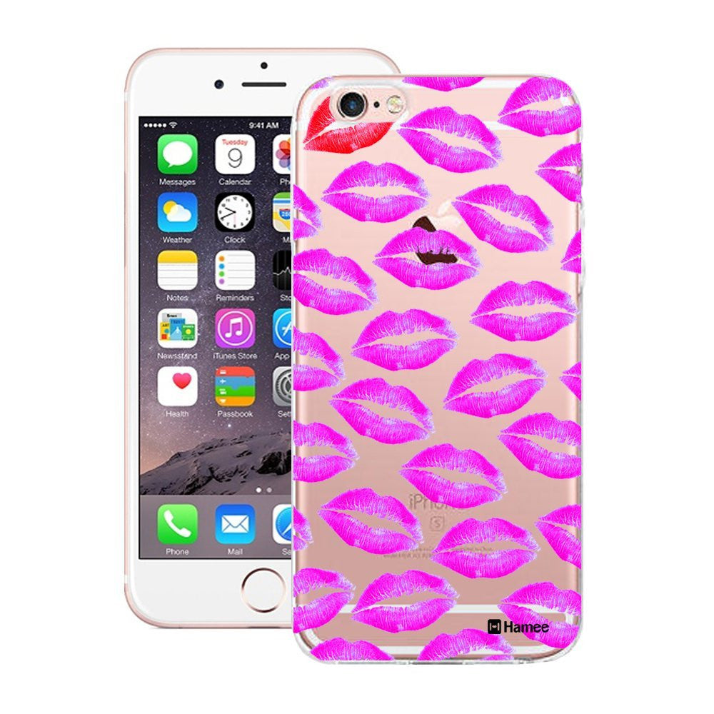 Hamee Pink Lips Designer Cover For iPhone 5 / 5S / Se - Hamee India