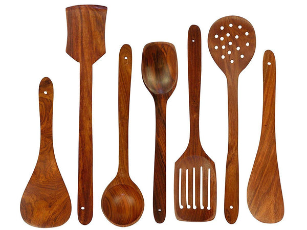 Wooden Spoons Cooking Utensil Set (7-Pieces)-Hamee India