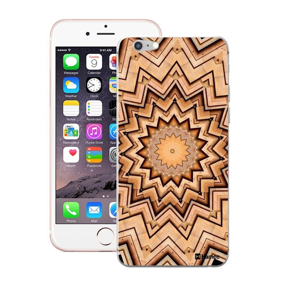 Hamee Brown Kaleidoscope Designer Cover For iPhone 5 / 5S / Se-Hamee India