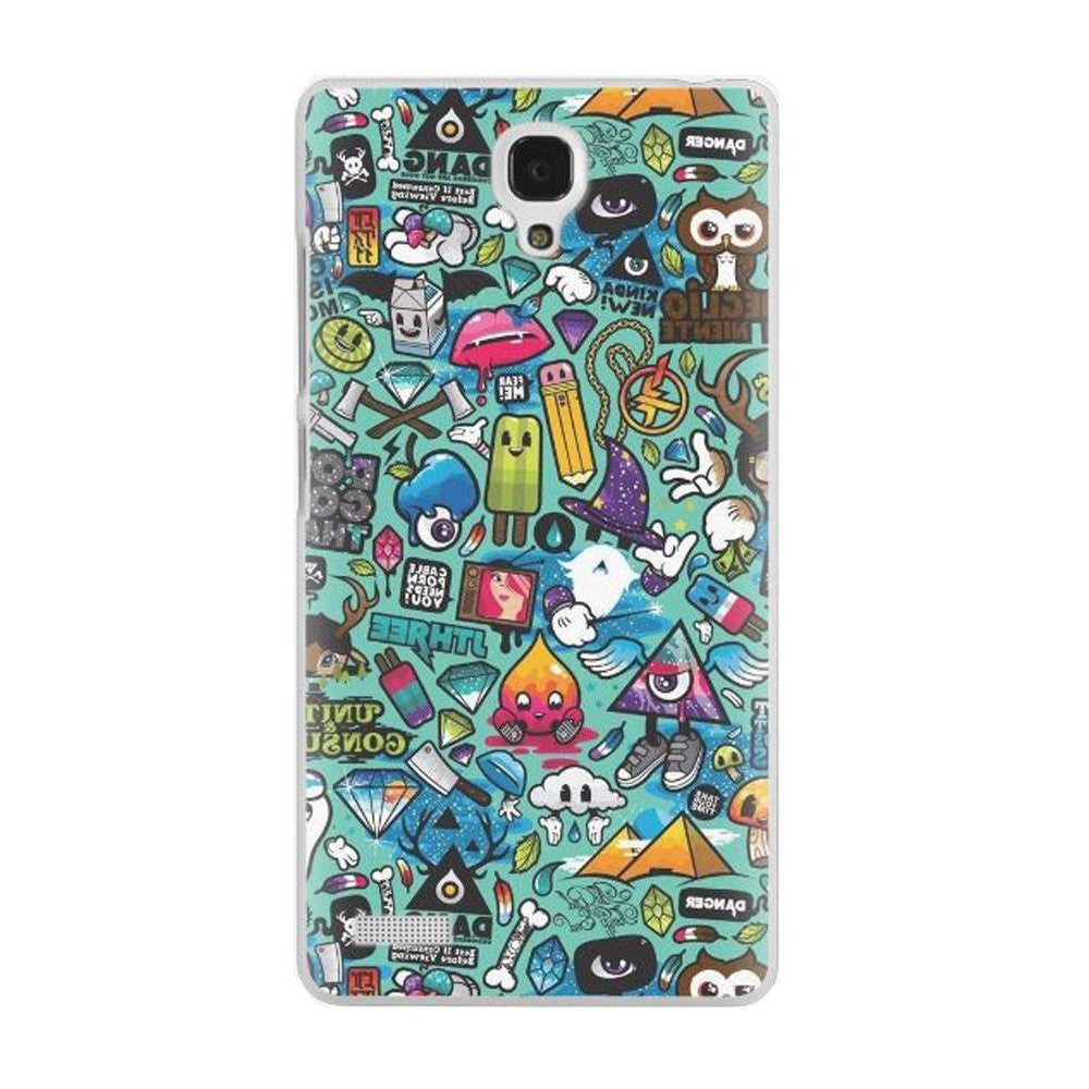 Hamee Doodles / Multicolour Designer Cover For Xiaomi Redmi Note-Hamee India