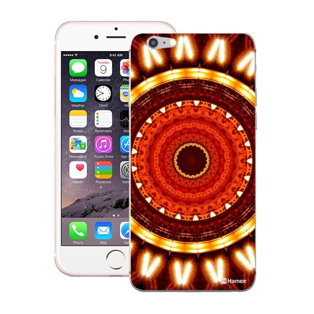 Hamee Orange Kaleidoscope Designer Cover For iPhone 5 / 5S / Se-Hamee India