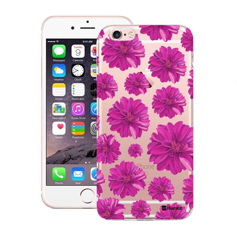 Hamee Purple Flowers Designer Cover For iPhone 5 / 5S / Se - Hamee India