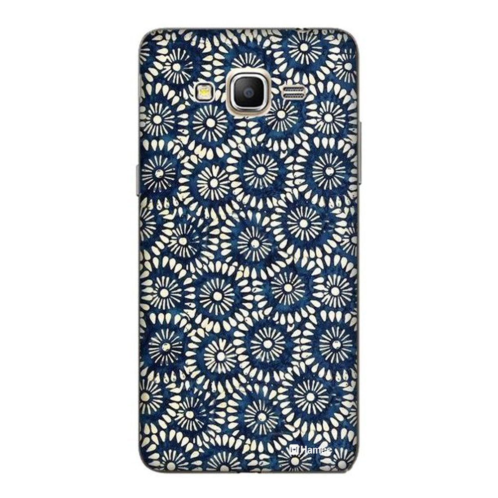 Hamee Shibori Flowers / Blue Designer Cover For Samsung Galaxy J7-Hamee India