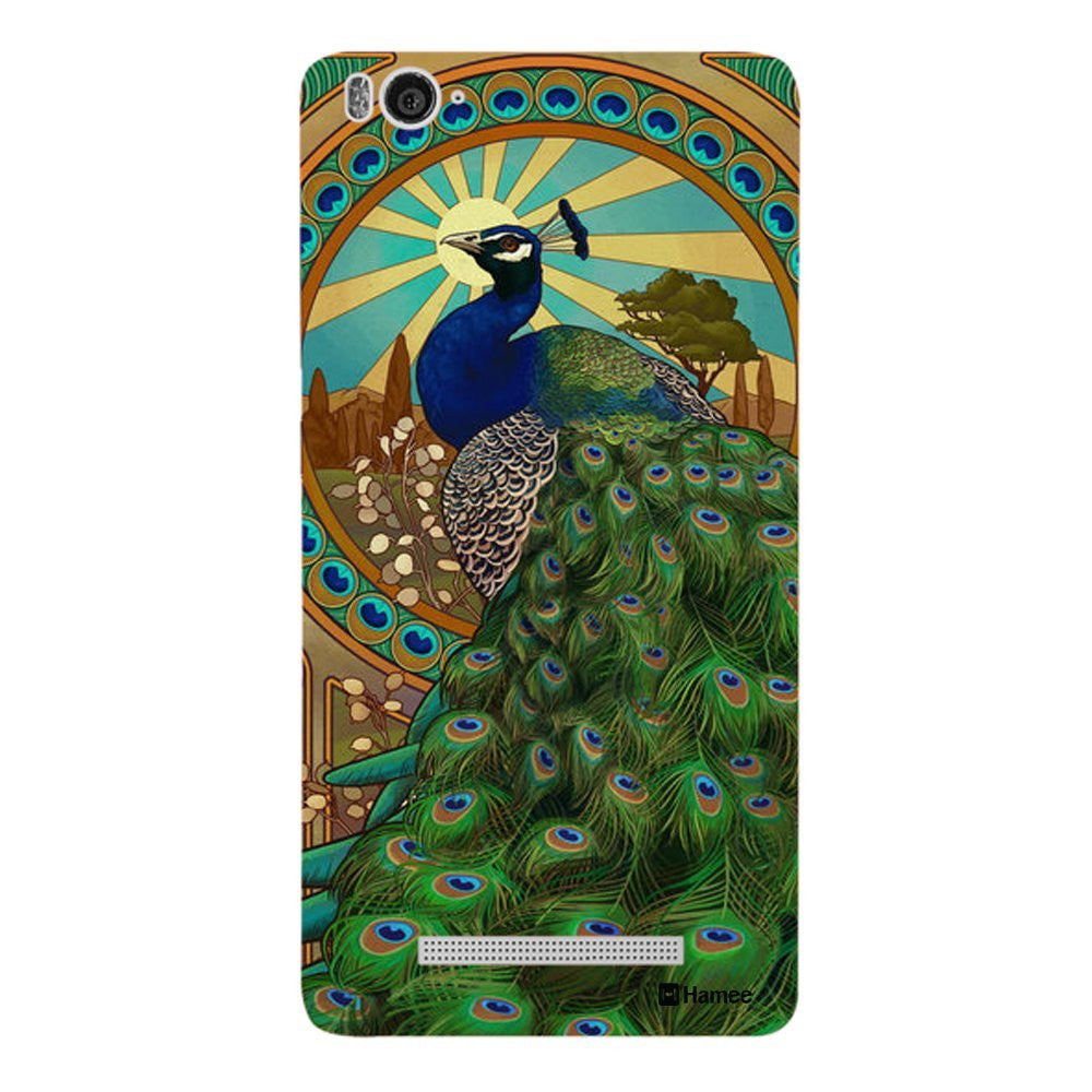 Hamee Side Peacock Designer Cover For Xiaomi Redmi 3-Hamee India