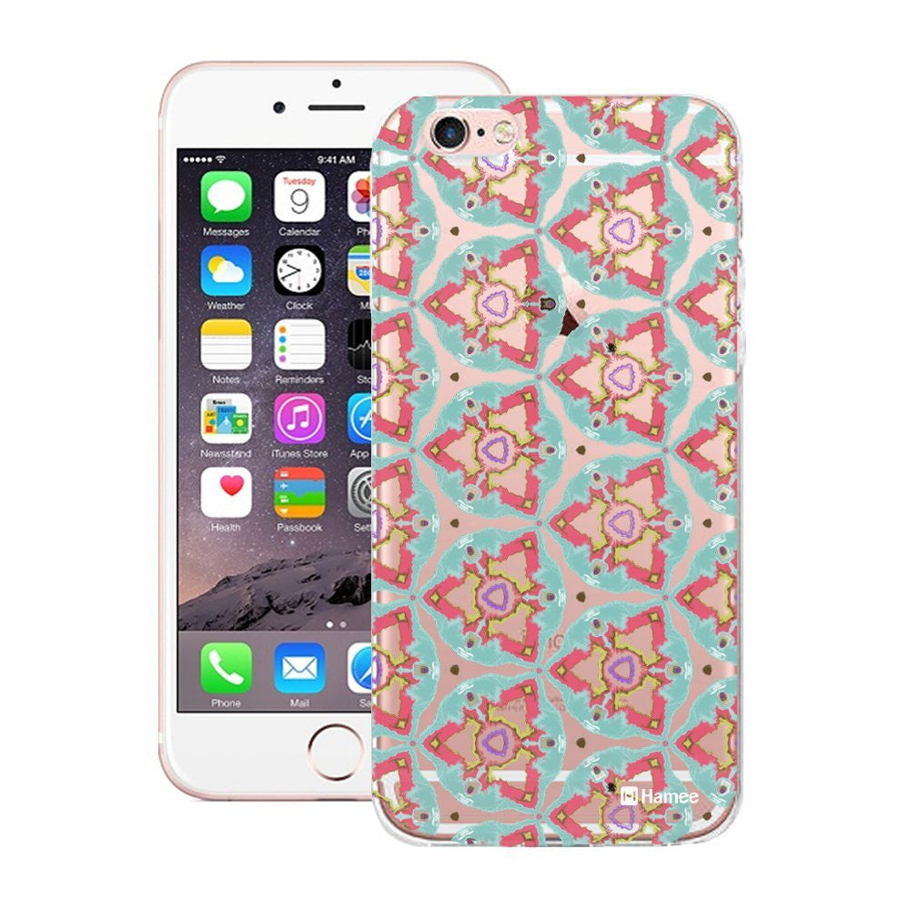 Hamee Green Kaleidoscope Triangles Designer Cover For Apple iPhone 6 Plus / 6S Plus - Hamee India