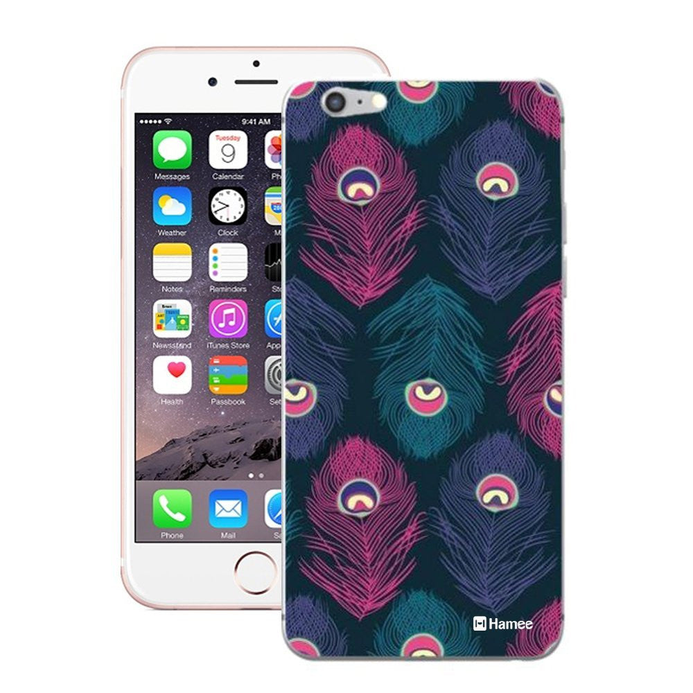 Hamee Feathers On Blue Designer Cover For iPhone 5 / 5S / Se - Hamee India