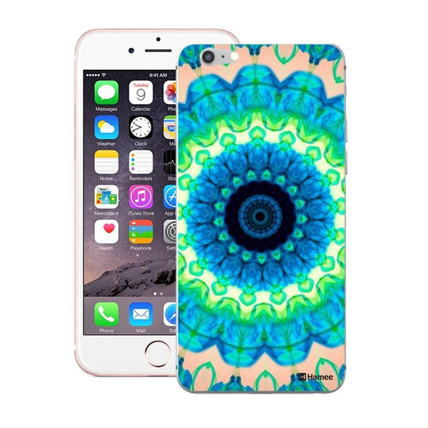 Hamee Blue Green Kaleidoscope Designer Cover For Apple iPhone 6 Plus / 6S Plus-Hamee India