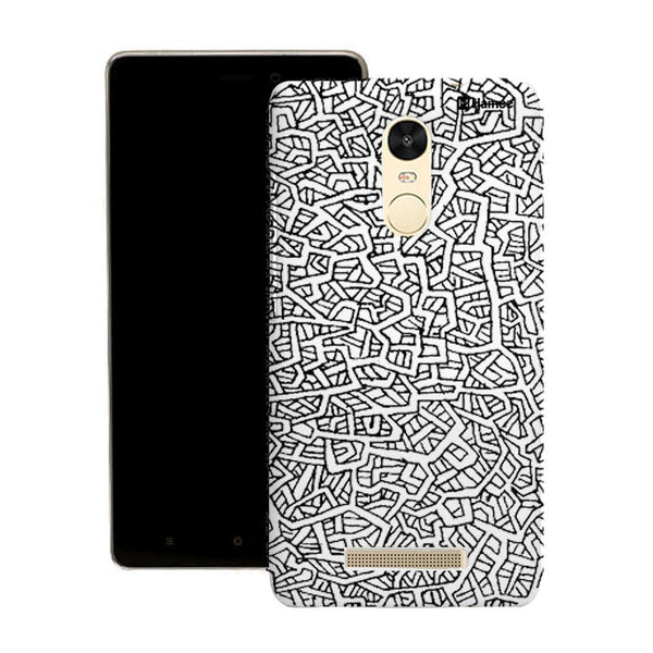 Hamee Black Squiggles Designer Cover For Motorola Moto X Play - Hamee India