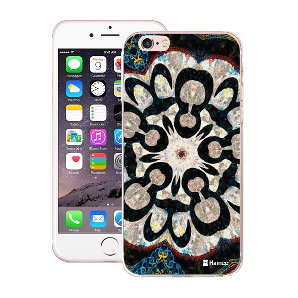 Hamee Black White Kaleidoscope Designer Cover For iPhone 5 / 5S / Se-Hamee India