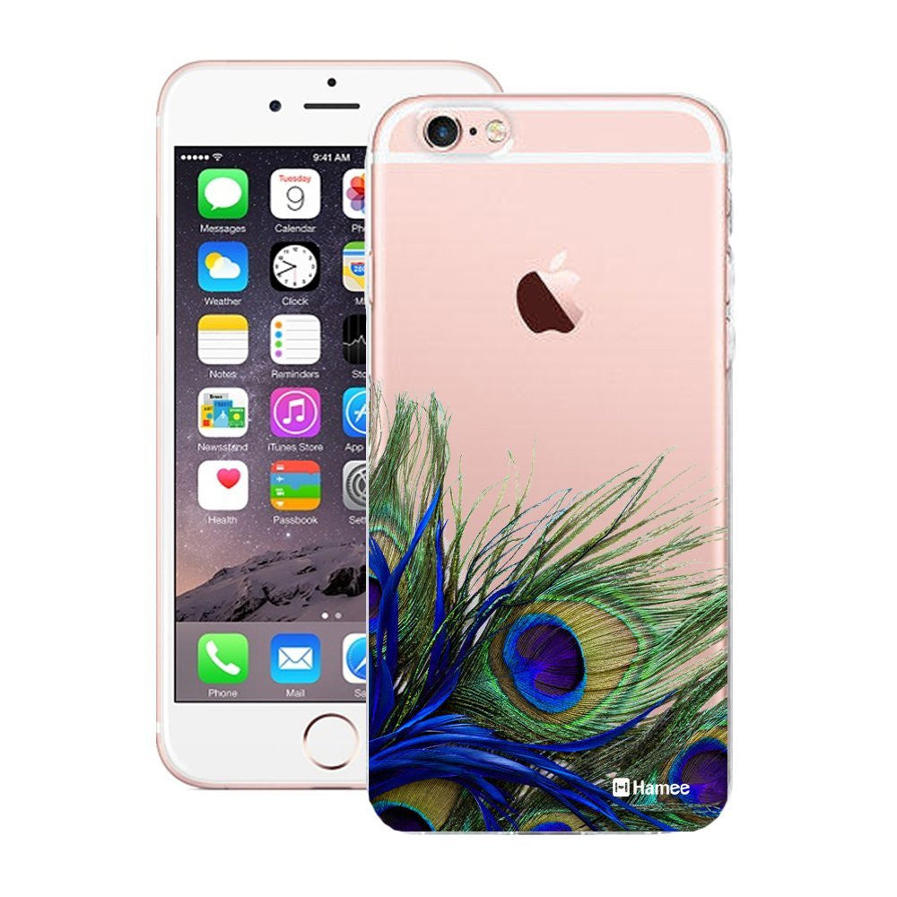 Hamee Peacock Feathers Designer Cover For Apple iPhone 6 / 6S-Hamee India