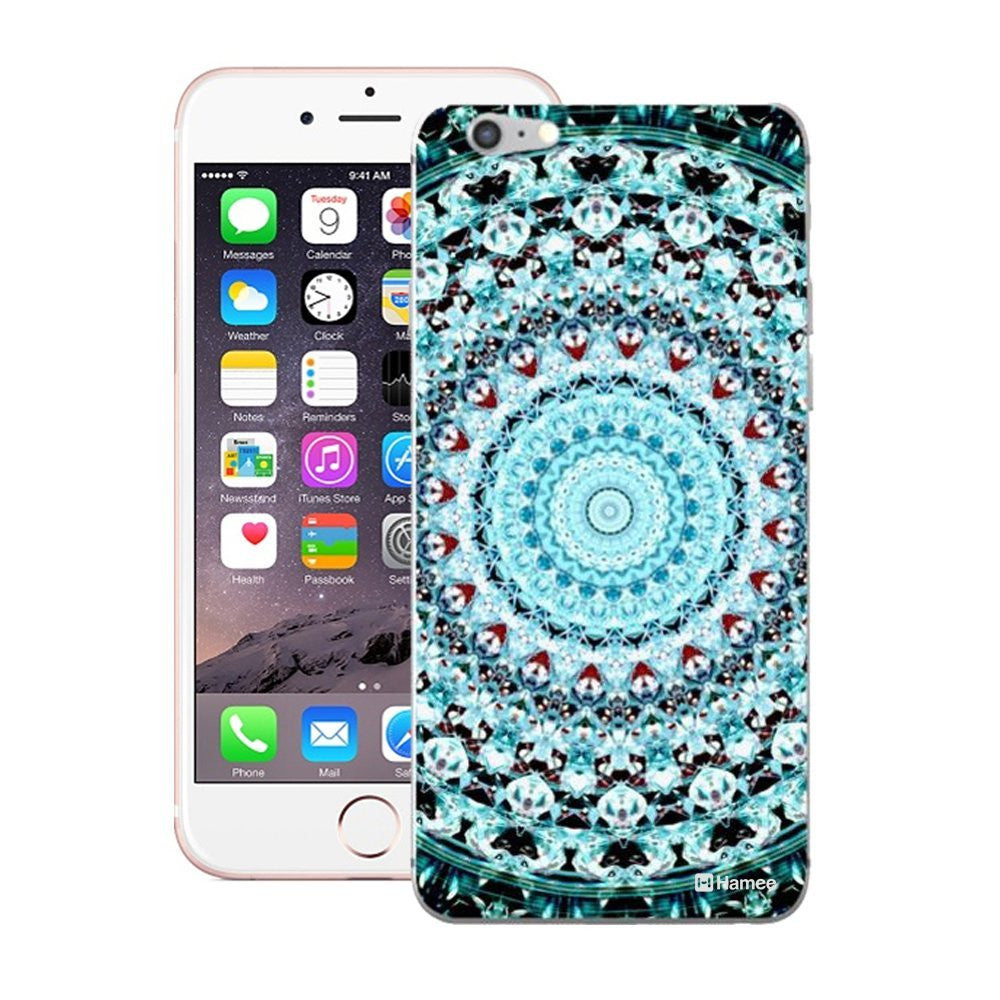Hamee Blue Shades Kaleidoscope Designer Cover For iPhone 5 / 5S / Se-Hamee India