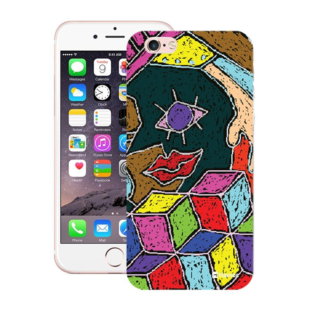 Hamee Girls Face Colouring Designer Cover For iPhone 5 / 5S / Se-Hamee India