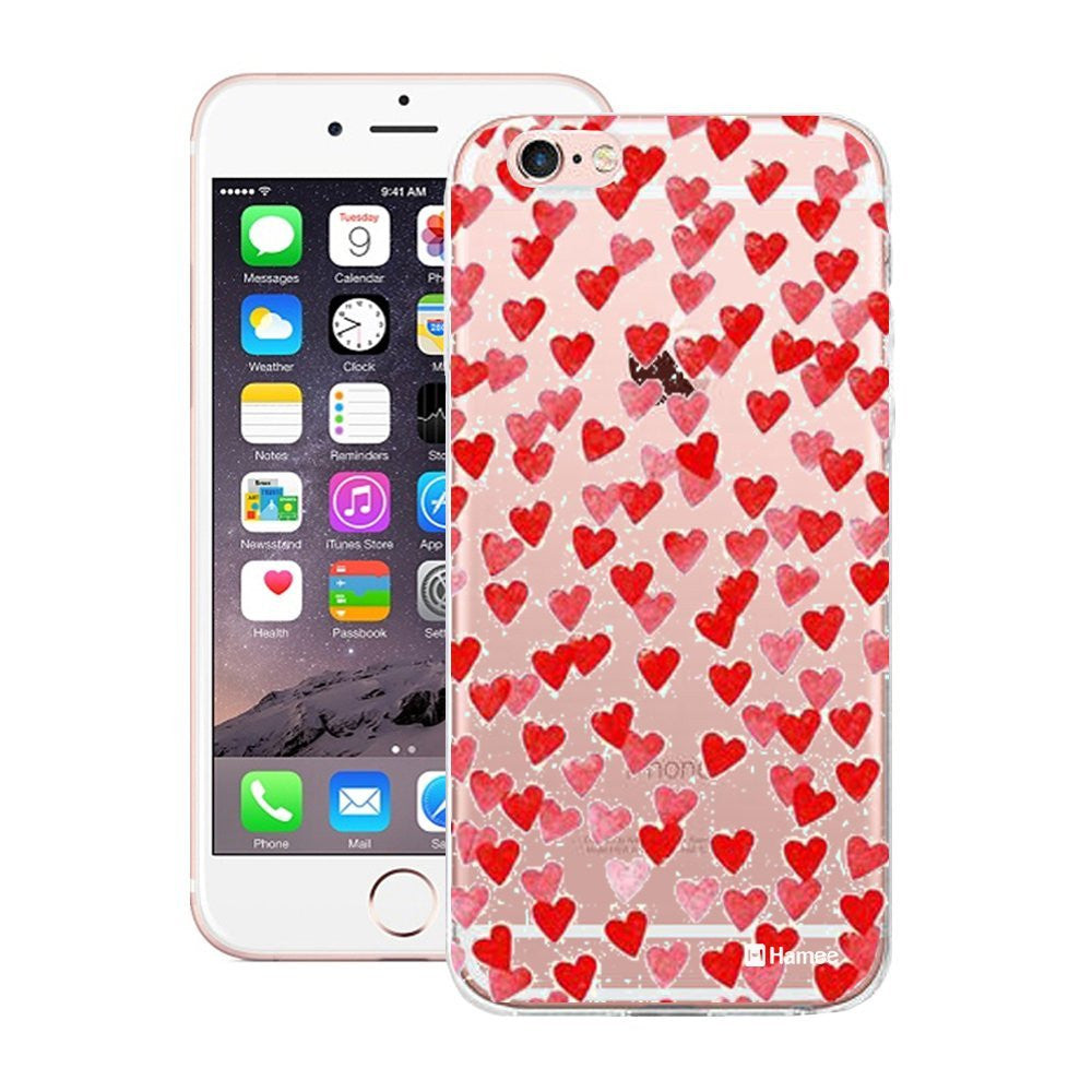Hamee Mini Red Hearts Designer Cover For Apple iPhone 6 / 6S-Hamee India