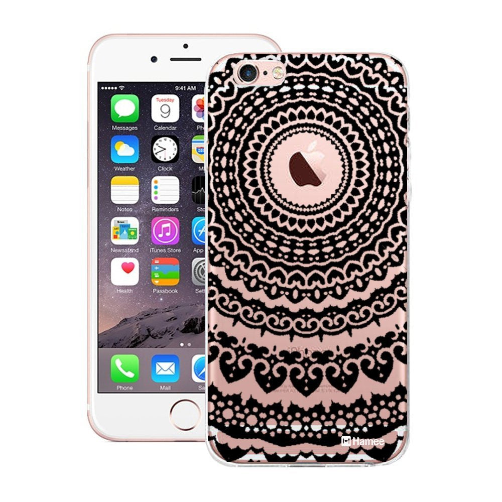 Hamee Applus / Black Mandala With Showing Logo Designer Cover For Apple iPhone 6 / 6S - Hamee India