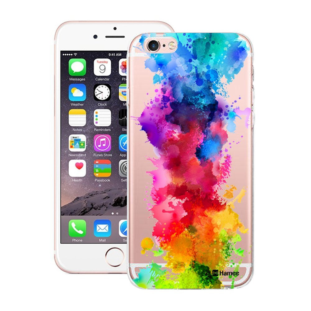 Hamee Multicolour Paint Splash Designer Cover For Apple iPhone 6 Plus / 6S Plus - Hamee India