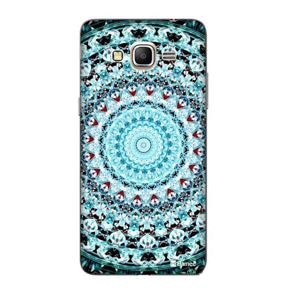 Hamee Blue Shades Kaleidoscope Designer Cover For Samsung Galaxy J7 - Hamee India