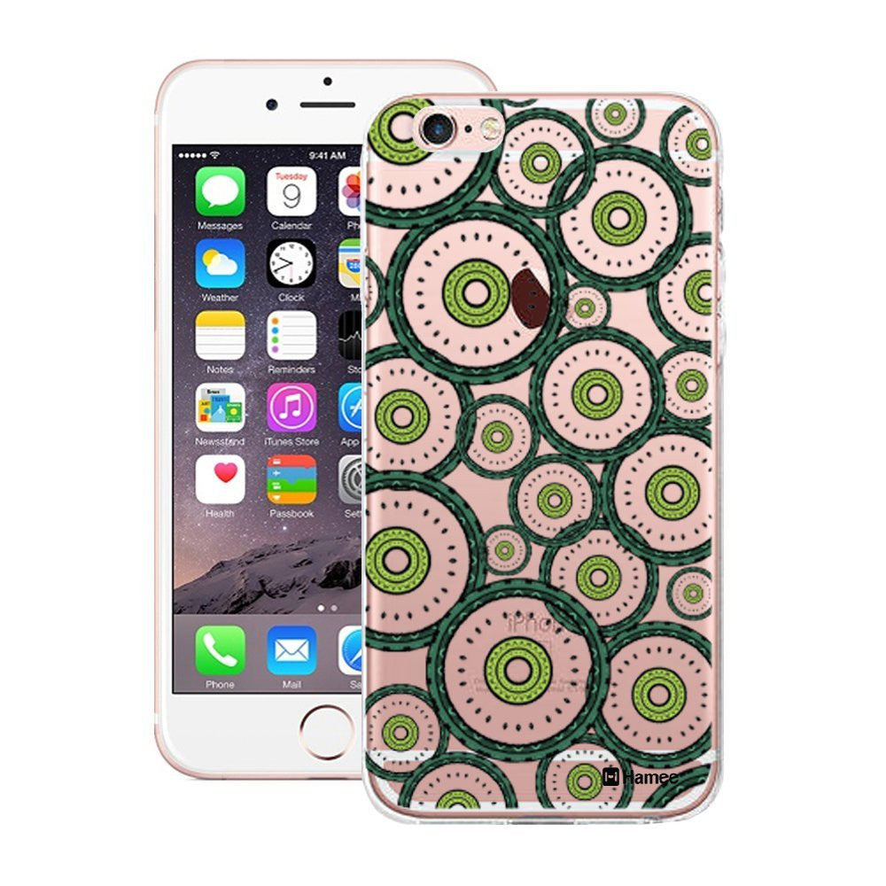 Hamee Ethnic Green Circles Designer Cover For iPhone 5 / 5S / Se-Hamee India