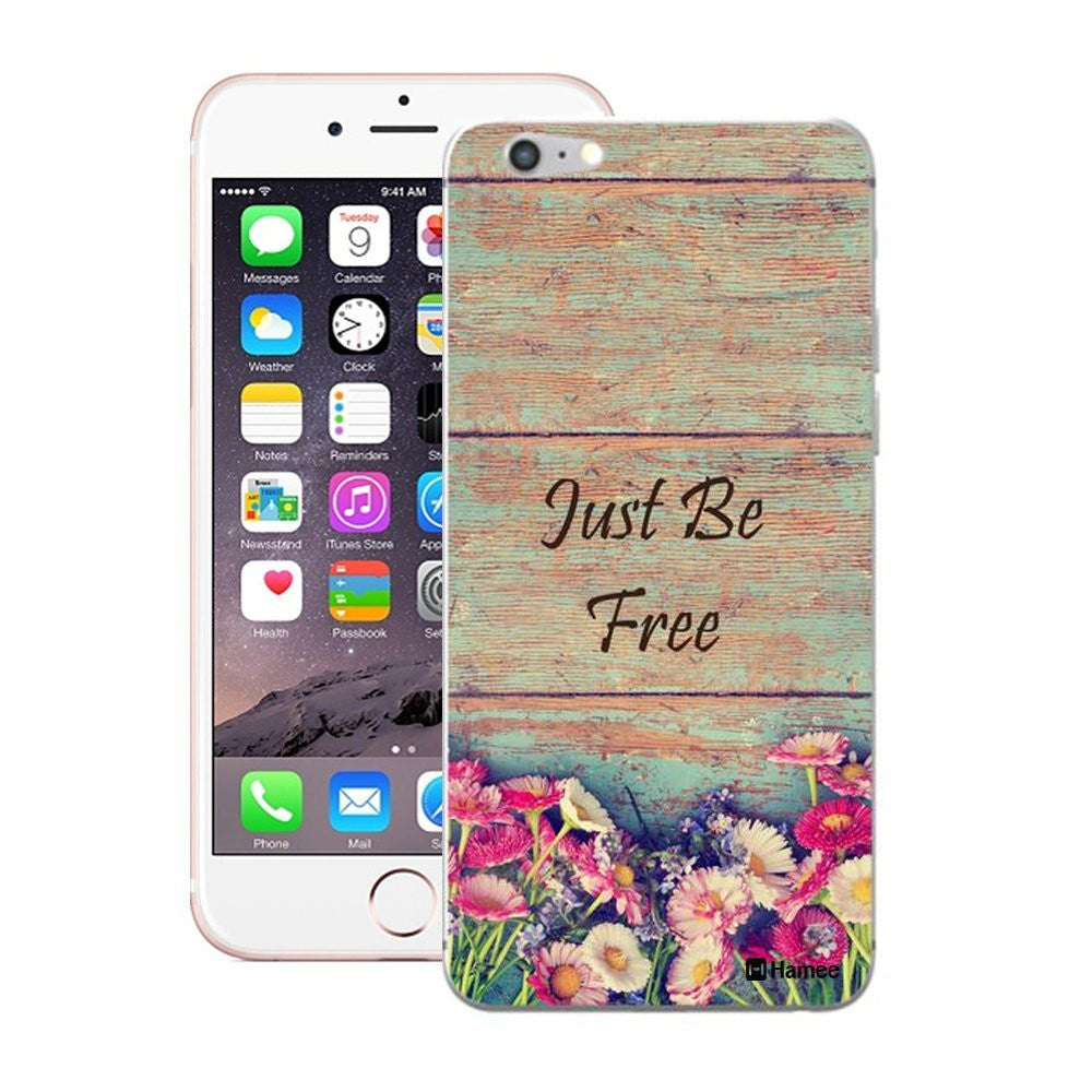 Hamee Brown Just Be Free Designer Cover For iPhone 5 / 5S / Se - Hamee India