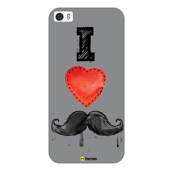 Hamee Original Movember / No Shave November Themed Inspired Cases Series Hard Case for iPhone 6 Plus /6S Plus (I Love Mustaches/Sketch)-Hamee India