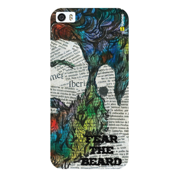 Hamee Original Movember / No Shave November Themed Inspired Cases Series Hard Case for iPhone 6 Plus /6S Plus (Fear The beard)-Hamee India