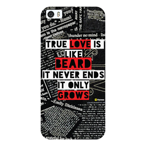 Hamee - True Love is like Beard - Beard Design Themed Hard Case for Xiaomi Mi 6
