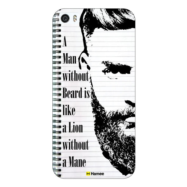 Hamee - Lion without Mane - Beard Design Themed Hard Case for Xiaomi Mi 6