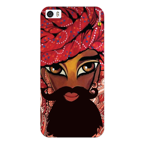 Hamee Original Movember / No Shave November Themed Inspired Cases Series Hard Case for iPhone 6 Plus /6S Plus (Indian Safa and Mustaches)-Hamee India