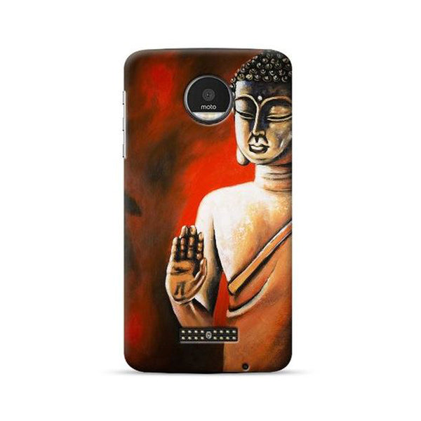 Hamee Official - Buddha Almighty - Lafula Designer Printed Hard Back Case for Moto E4