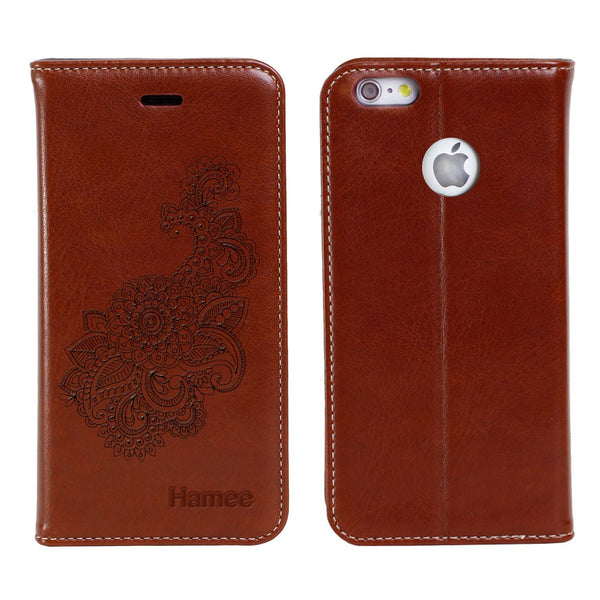 Hamee -Henna - Premium PU Leather Flip Diary Card Pocket Case Cover Stand for One Plus 5
