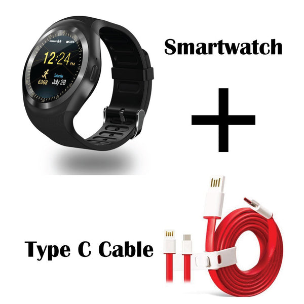 HAMEE Ambitech Bluetooth Smart Watch with Free Type C Dash Charging Cable compatible for OnePlus 3T / OnePlus 3-Hamee India