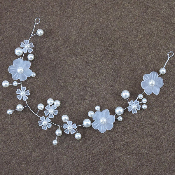 Floral Pearl Hair Vine Accessory