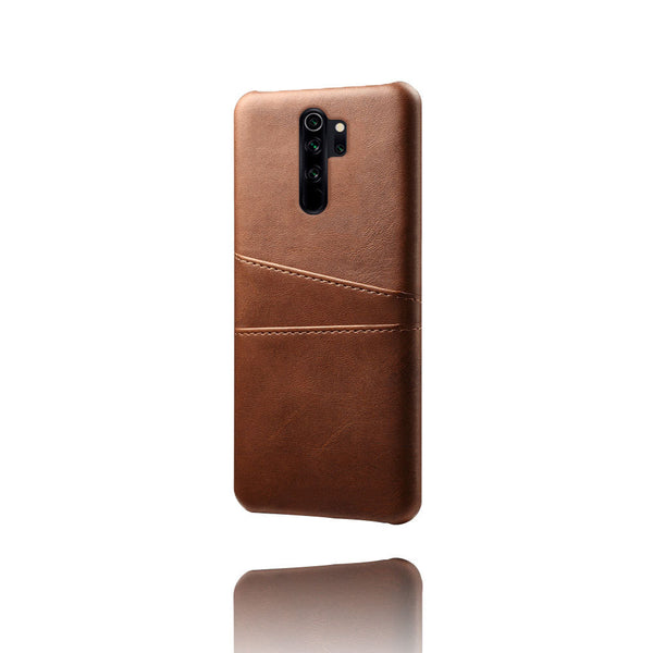 Leather Card Pocket Back Cover for Redmi Note 8 Pro (Dark Brown)