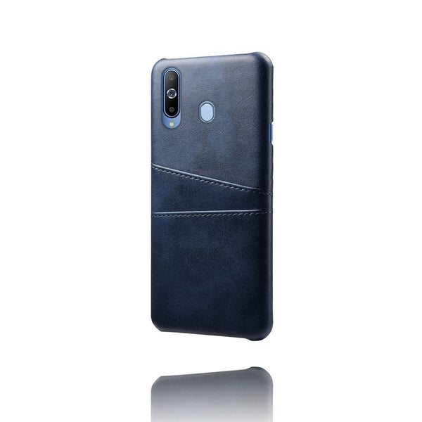 PU Leather Card Pocket Back Cover for Samsung Galaxy M40 (Blue)