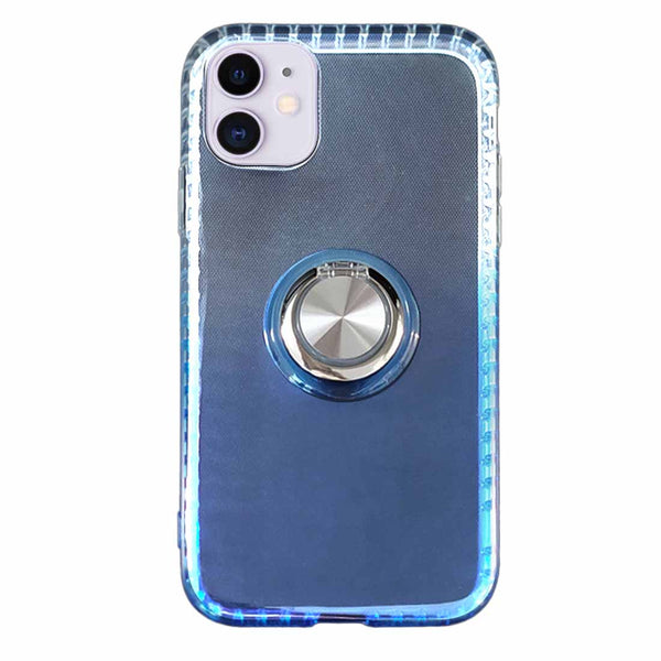 Gradient TPU Case with Ring Holder for iPhone 11 - Blue