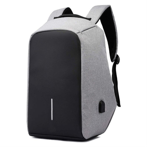 Anti-Theft Laptop Backpack with USB port - Grey Black-Hamee India