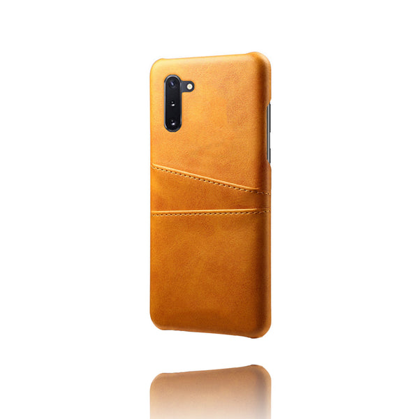 PU Leather Card Pocket Back Cover for Samsung Galaxy Note 10 (Tan)