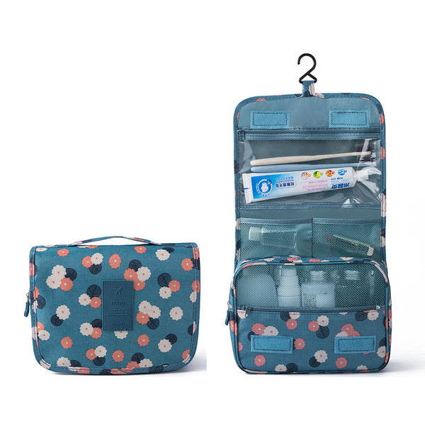 Hanging Travel Organizer - Blue Floral-Hamee India