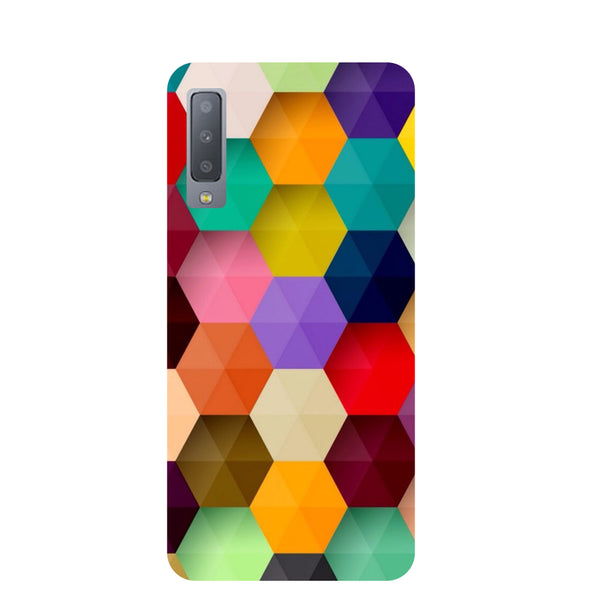 Mini Hexagons Samsung Galaxy A7 Back Cover-Hamee India