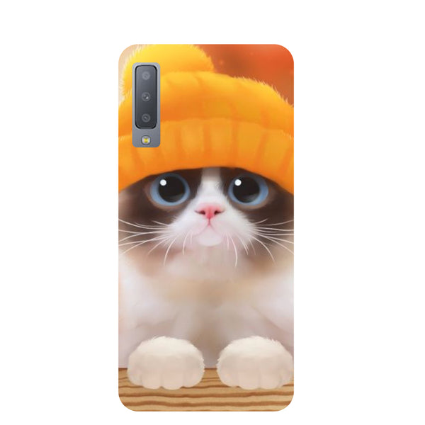 Chill Cat Samsung Galaxy A7 Back Cover-Hamee India