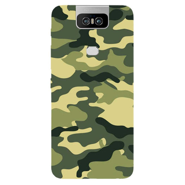 Green Camouflage Asus 6Z Back Cover-Hamee India