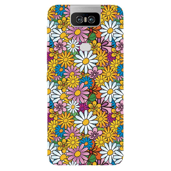 Colourful Flowers Asus 6Z Back Cover-Hamee India