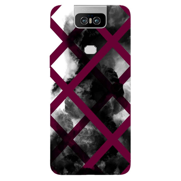 Black Mist Asus 6Z Back Cover-Hamee India