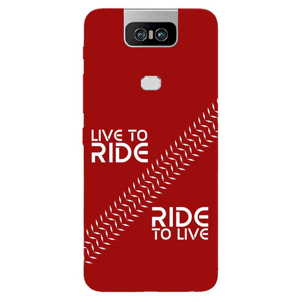 Live Ride Asus 6Z Back Cover-Hamee India