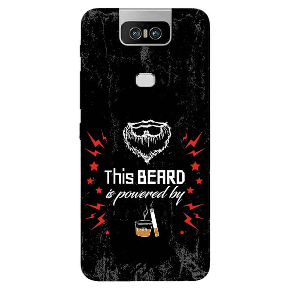 Beard Power Asus 6Z Back Cover-Hamee India