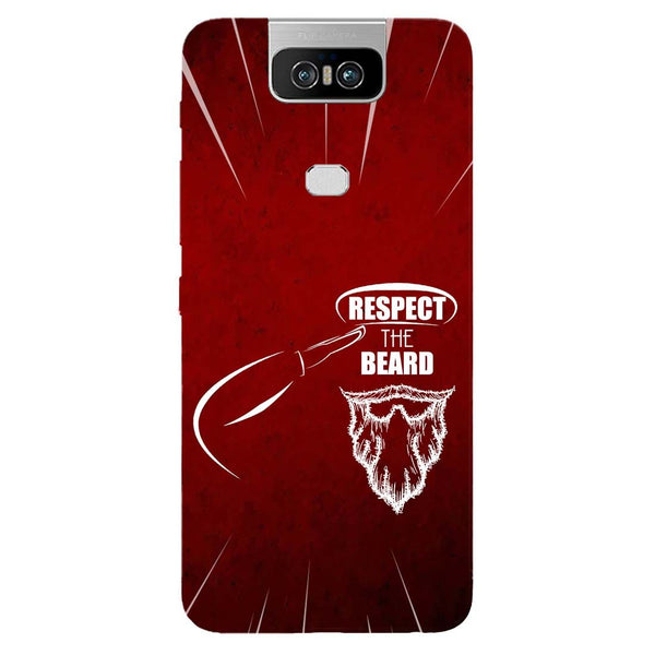 Respect Beard Asus 6Z Back Cover-Hamee India