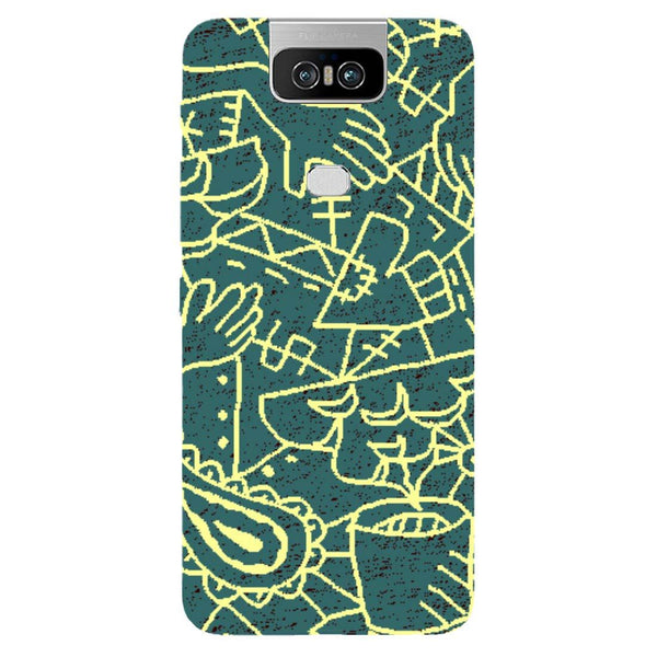 Abstract Asus 6Z Back Cover-Hamee India