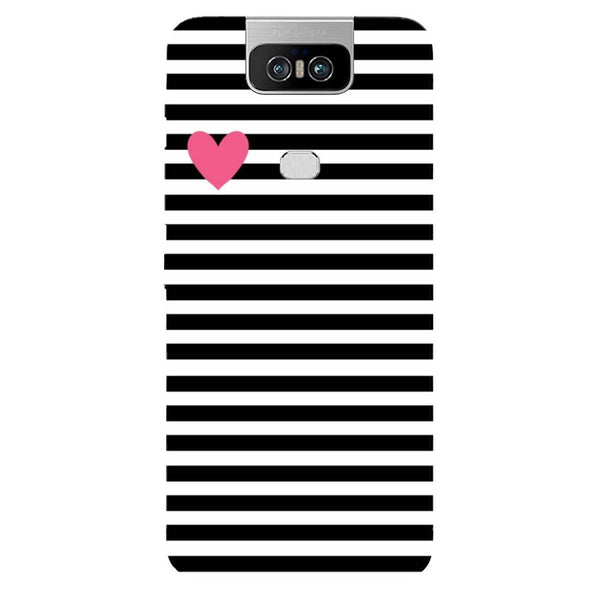 Stripes Asus 6Z Back Cover-Hamee India