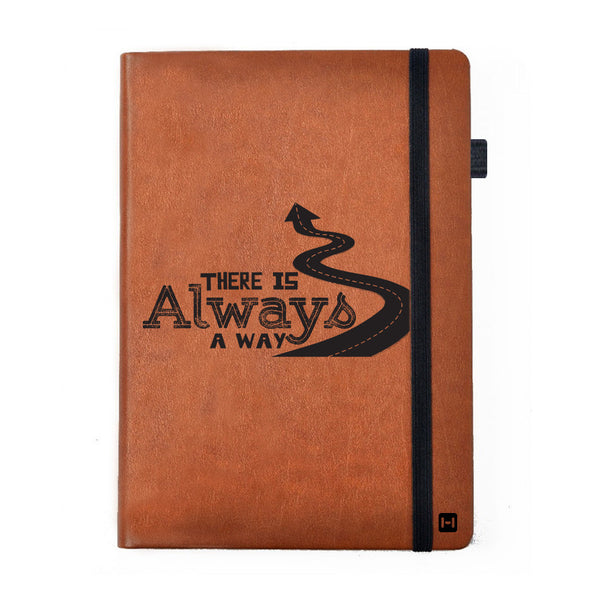 Always A Way - Tan Brown Notebook-Hamee India