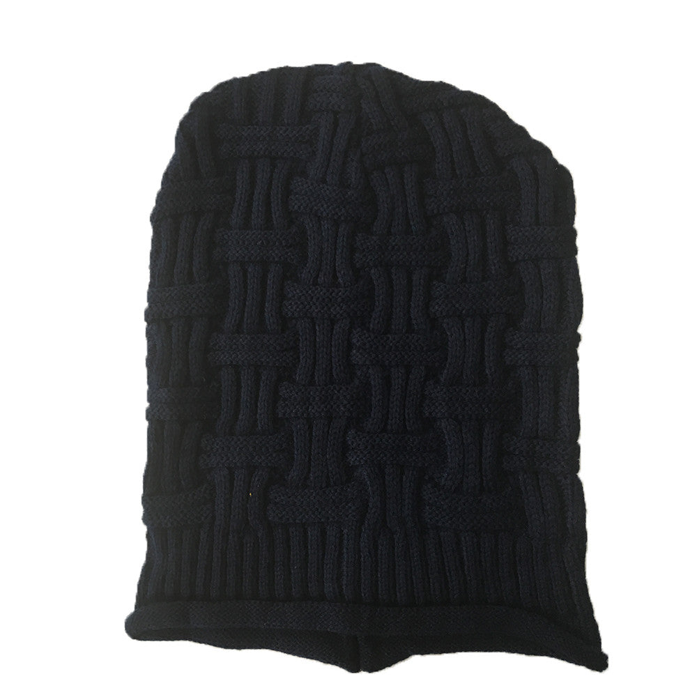 Hamee Blue Knitted Slouchy Beanie-Hamee India